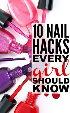 #Nail_polish is like an accessory - it adds to your look and can be used to match or contrast your outfit - but painting your own nails can be difficult, especially when you're in a rush! If you're wondering how to prevent nail polish from chipping, how to get nail polish off skin, how to get nail polish to dry faster, how to get ombre nails or half moon nails, or how to whiten stained nails, these nail hacks are for you! For more great pins go to @KaseyBelleFox