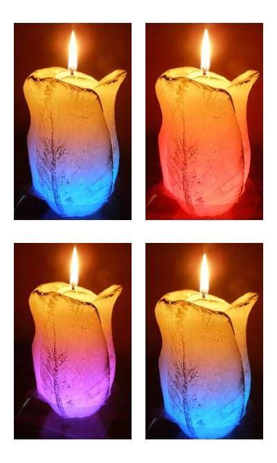 Rose candles with led#mojedekorowanie.pl#