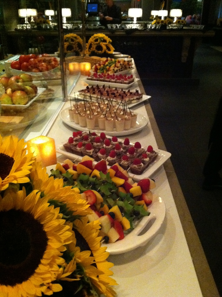 Mini dessert buffet served at a private function at Parma.