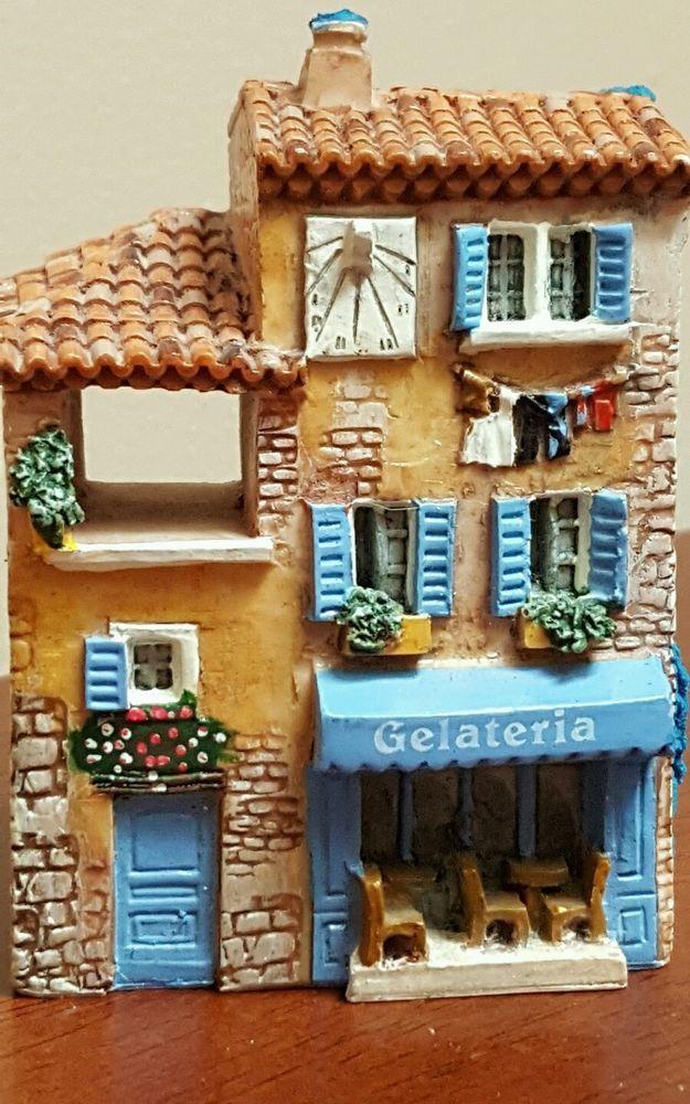Dominique Gault Miniature Building GELATERIA~210275 Michaelangelo Art Shop Italy