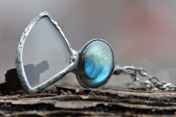 OOAK loupe mother gift labradorite and magnifying glass by zolanna