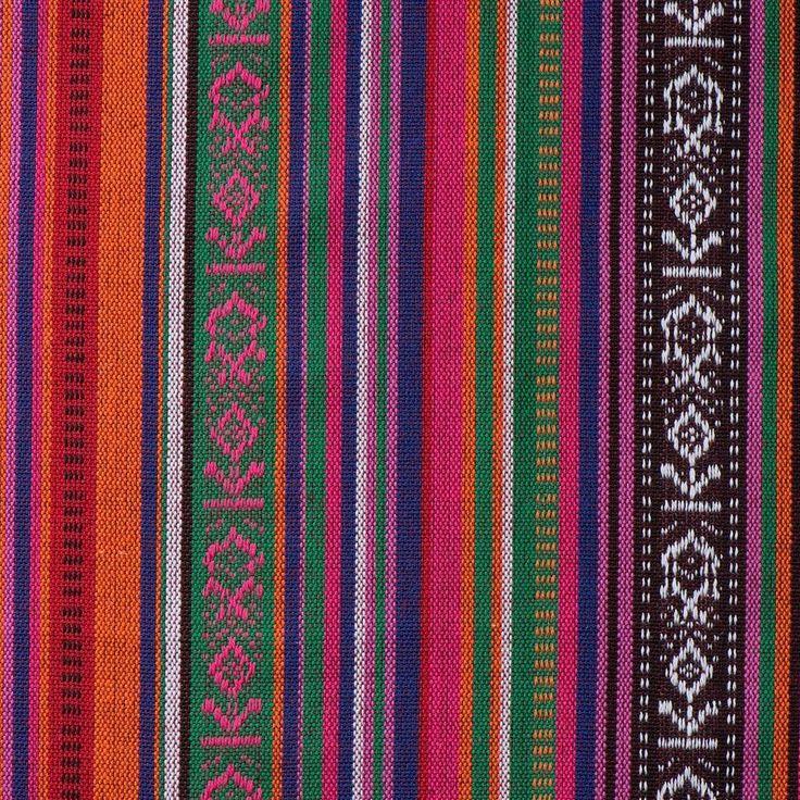 Mexicaanse stof 21 breedte 150 cm breed, Samenstelling: 100% Polyester. Zeer geschikt voor o.a. poncho, bedsprei, tafelkleed, carnaval kleding, interieur, kusse