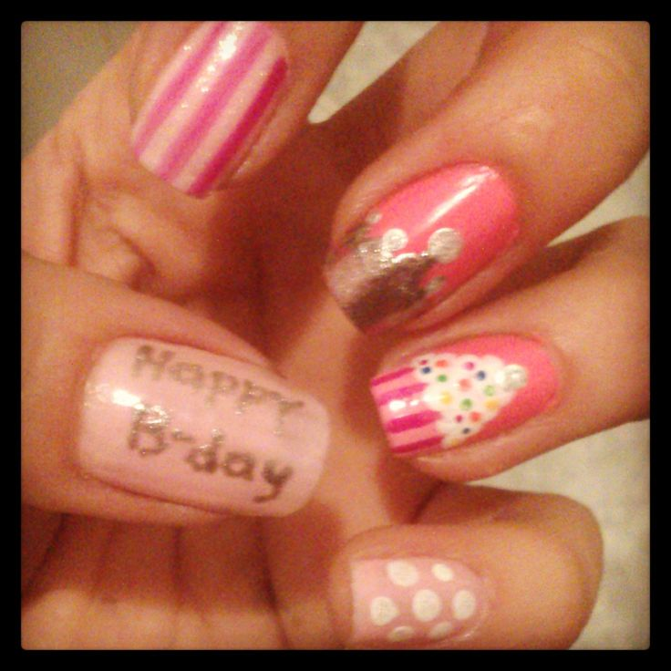 Happy Nails: 30 Best Images About Happy Birthday Nail Art Tutorials