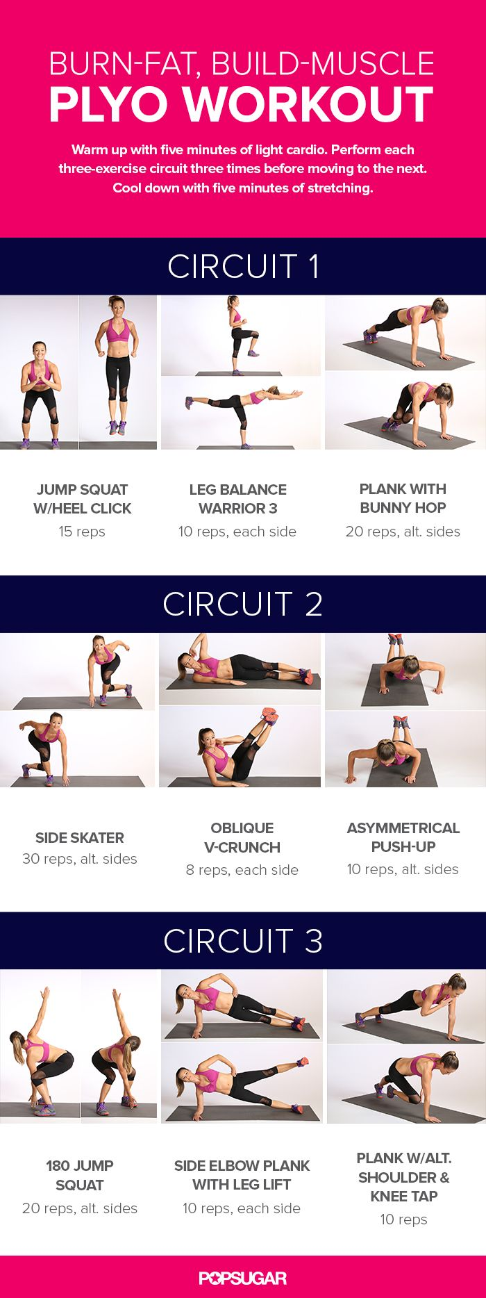 This plyo workout is designed to melt fat and build muscle! You'll see real results if this routine is a regular part of your workout life.