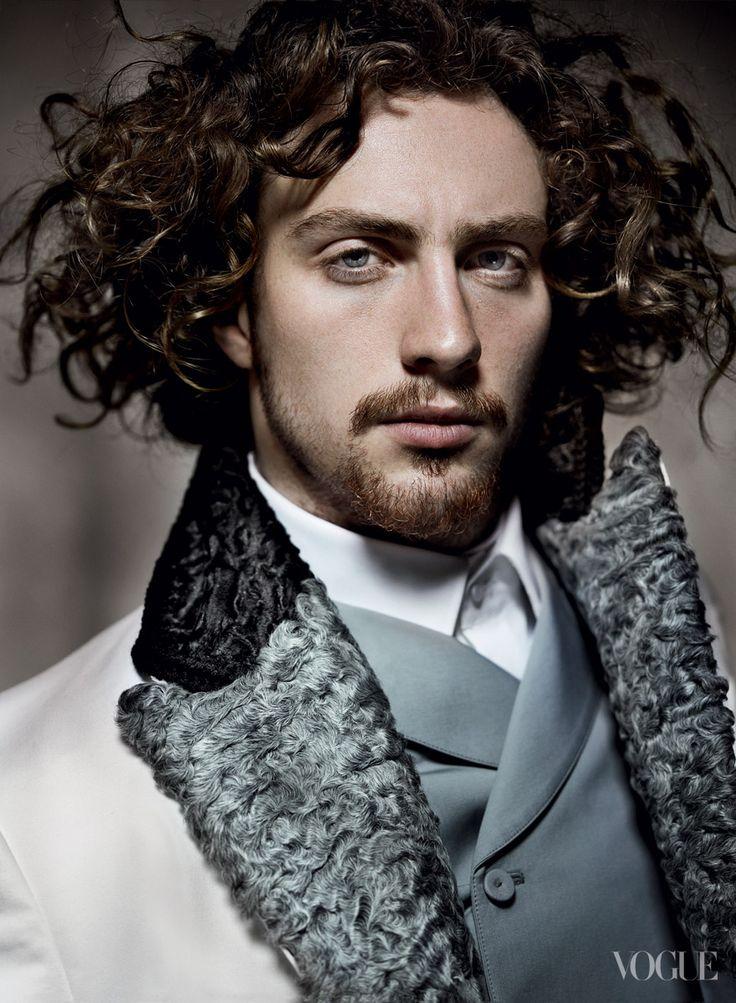 Rising actor Aaron Taylor-Johnson, in Prada, plays the dashing Vronsky.