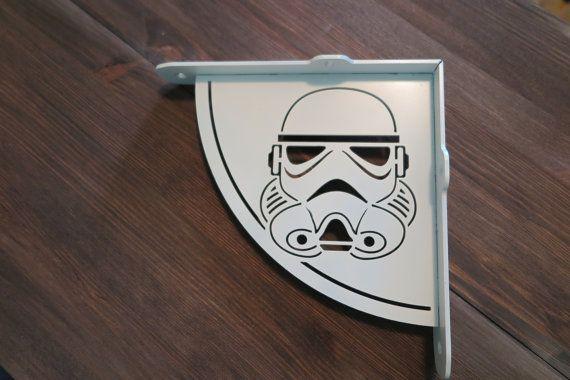 2x Stormtrooper shelf bracket 2 brackets for complete shelf