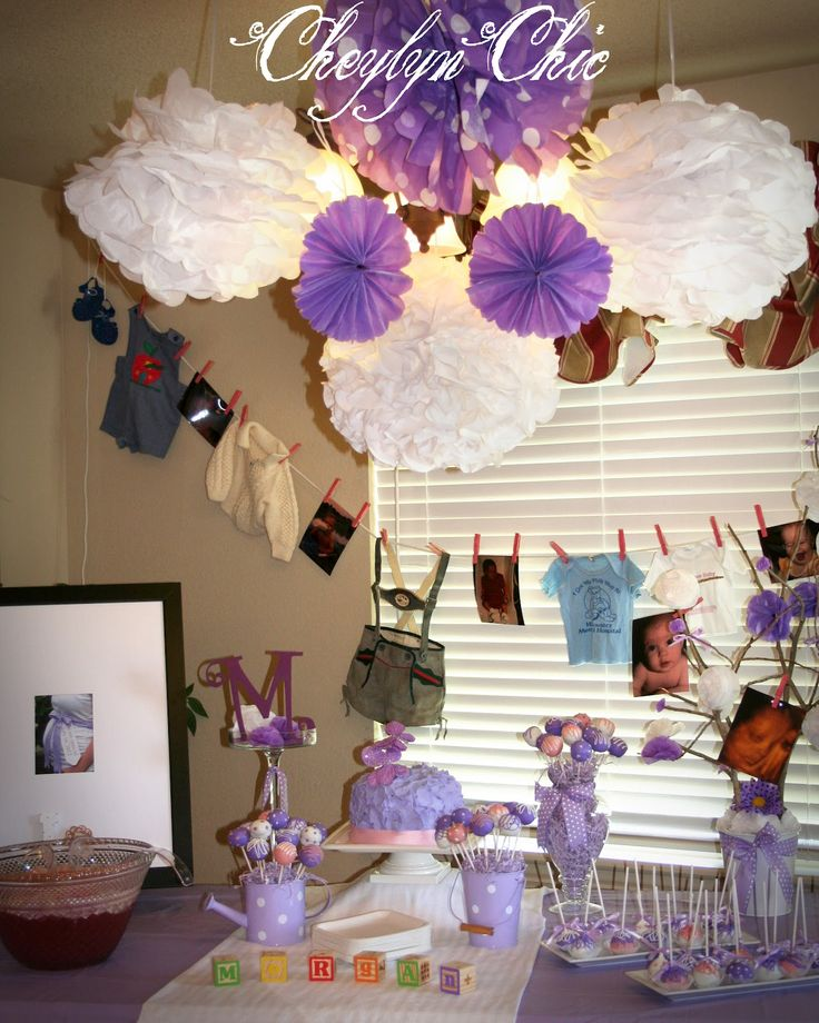 Baby Shower Lavender And Yellow Decorations | Loving Lavender Baby Shower