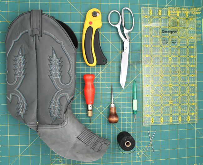 HOW TO MAKE A WALLET OUT OF AN OLD COWBOY BOOT