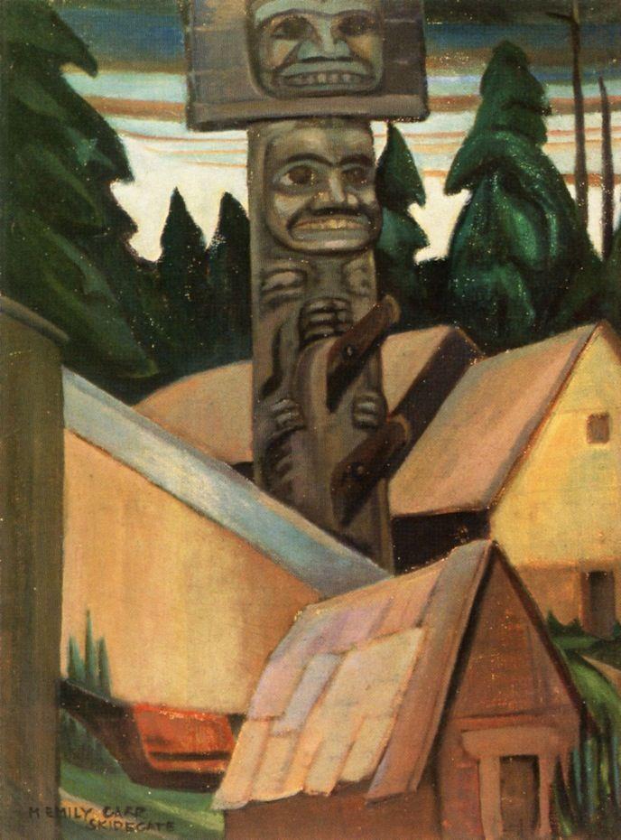Skidegate (oil on canvas) 1928, Emily Carr