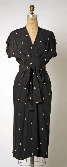 Adrian dress ca. 1942 via The Costume Institute of the Metropolitan Museum of Art