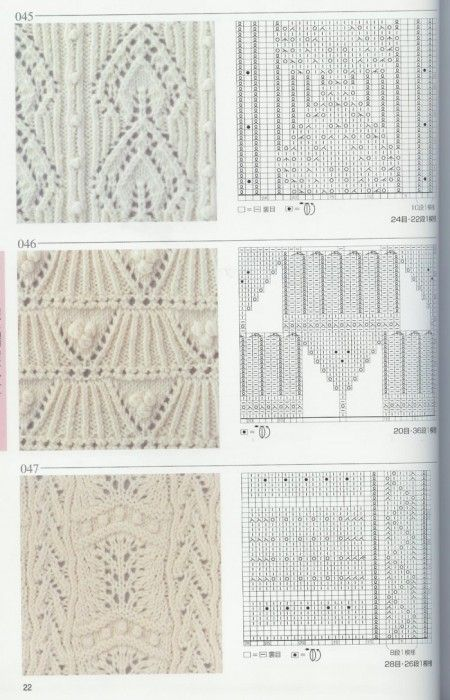 Lace Knitting Pattern Library : 95 best images about knitting stitches library on ...