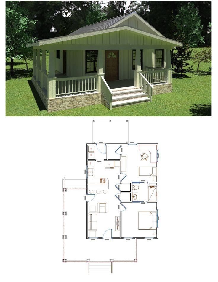 Simple 2 bed 1 bath floor plan