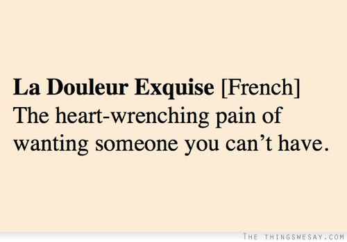 La douleur exquise the heart-wrenching pain of wanting someone you can't have