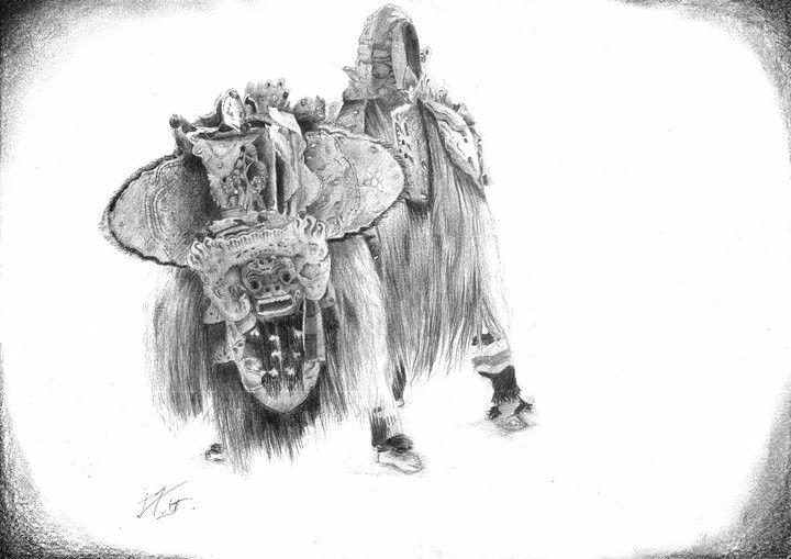 Barong Pencil on paper #artwork #art #drawing #budaya #art_culture