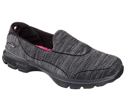 sketchers go walk 3 super sock 3 black