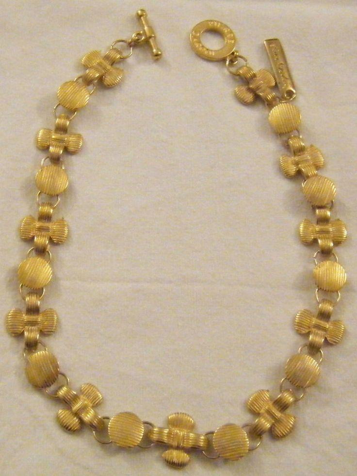 collana pierre cardin in metallo dorato opaco