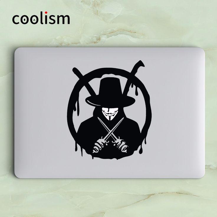 V For Vendetta Vinyl Laptop Decal Sticker for Macbook Decal Air Pro Retina 11 12 13 15 inch Mac HP Mi Surface Book Skin Sticker #Affiliate