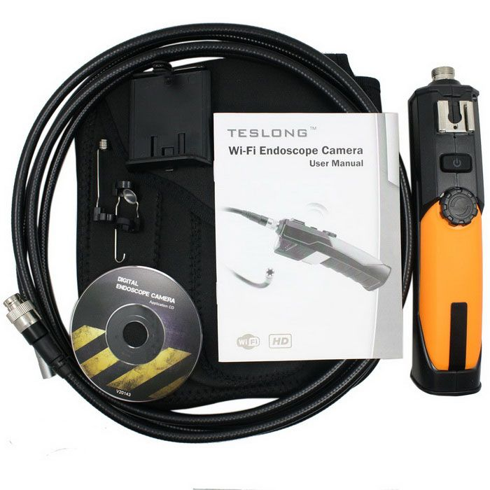 Teslong WF200 720P HD 2MP 6LED 8.5mm WIFI Endoscope Borescope (1m) - Free Shipping - DealExtreme