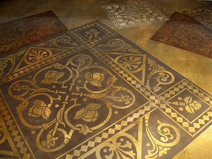 17 Best Images About Stenciled Concrete On Pinterest