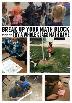 BREAK UP YOUR MATH BLOCK - WHOLE CLASS GAMES