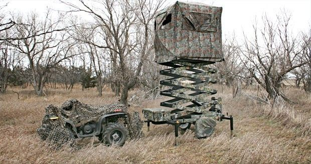 21 best images about amazing deer blinds on pinterest for Deer hunting platforms