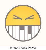 Irritate - Cartoon Smiley Vector