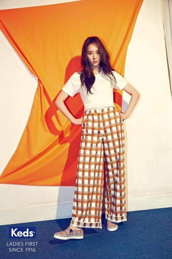 More photos revealed of Krystal looking cute and trendy in 'Keds' | allkpop.com