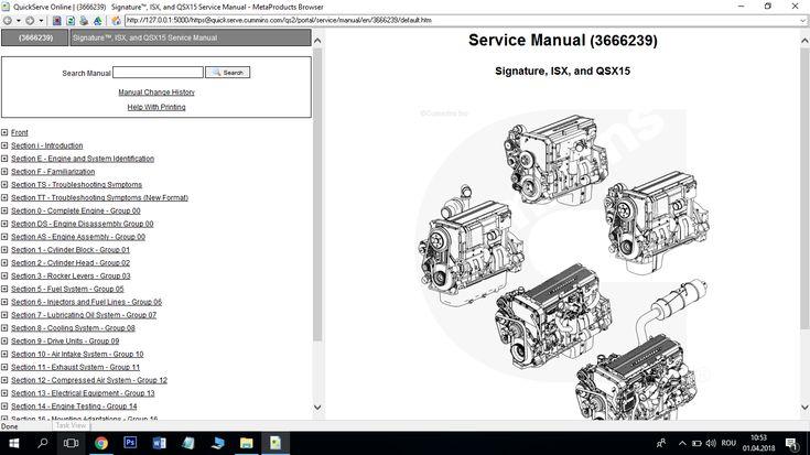 Cummins Signature ISX and QSX15 Service Manual Download