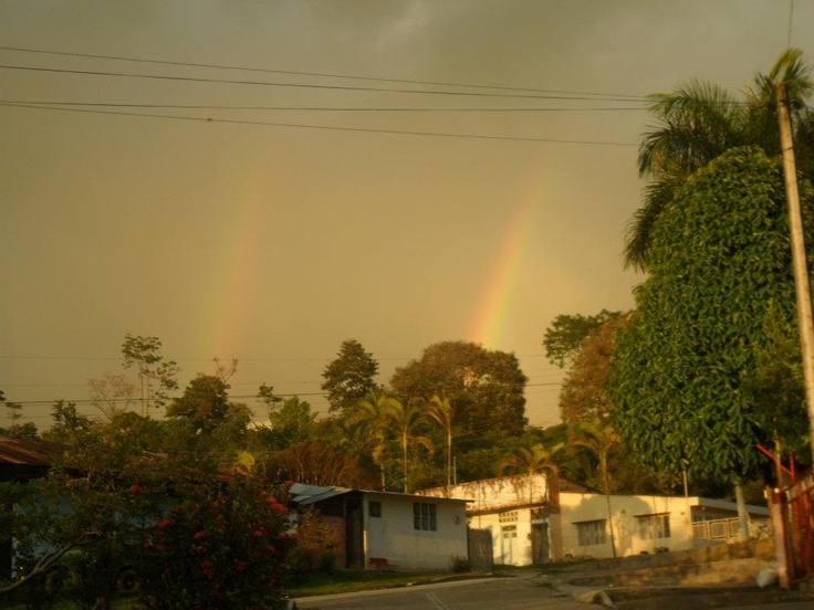 Arco iris, fotografia sacada en Villarrica Tolima Colombia