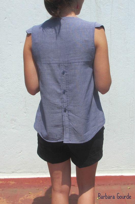 jolie transformation d'une chemise d'homme