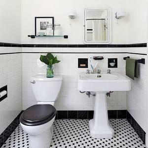 1000 Images About 1920 S Bath On Pinterest Black And
