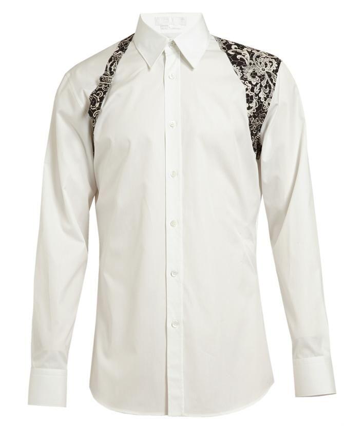 ALEXANDER MCQUEEN | Lace Detail Cotton Shirt