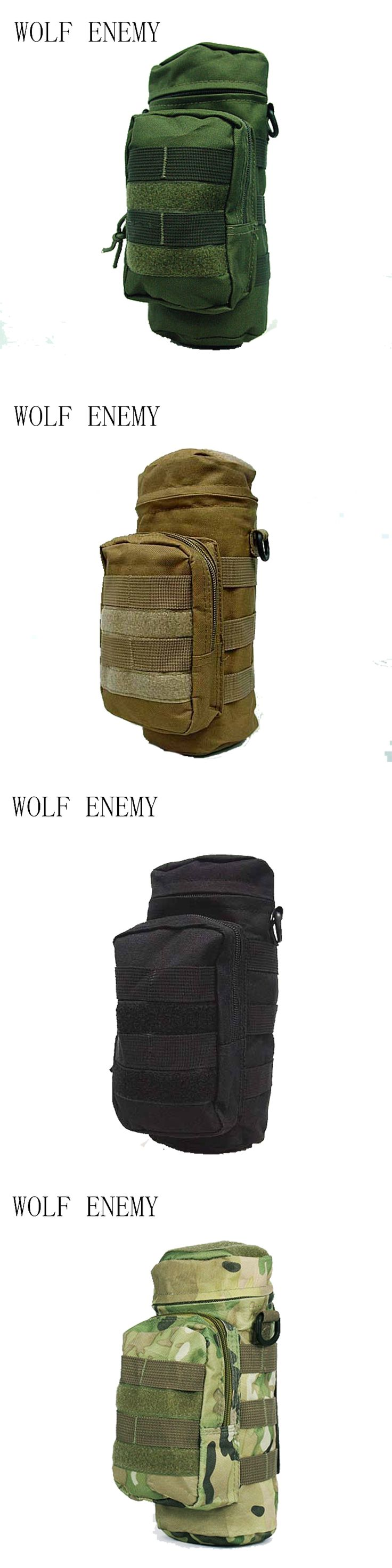 SWAT Airsoft Molle Water Bottle Utility Medic Pouch Outdoor OD Digital Camo BK ACU Camo Woodland bottle bag