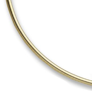 14K Yellow Gold 4mm Omega Necklace