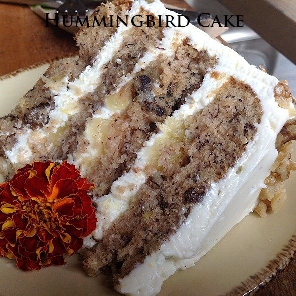 Hummingbird Cake ~~~ Here it is, my absolute most favorite cake in the whole wide world.  It's the most requested recipe at Southern Living, honestly it's hard to describe in words just how good this cake is!!