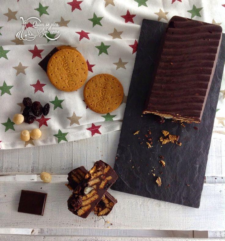 Quien Se Pica Ajos Come : Pastel De Galletas Digestive Y Chocolate ~ Sin Horno