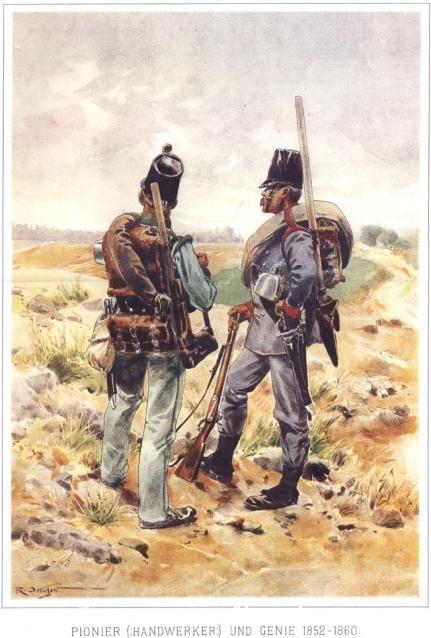 Pioneer(Handwerker) and Genie 1852-1860