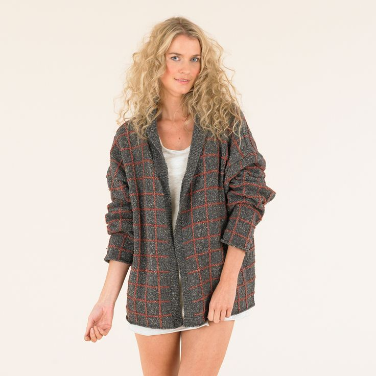 Gorgeous oversized boyfriend cardie from The Sublime Luxurious Tweed DK book 673_Spring Summer 14 Collection