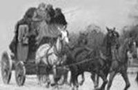 Image - Cobb amp; Co. stage coach  The first Cob and Co, coach left the Provincial hotel in Stafford St. 1862, bound for the Dunstan Goldfields. The Mounted Gold Escort was a group of armed and mounted men formed to get the gold safely to Dunedin.