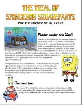 Reason and Evidence (Common Core W.5.9.a-b) - The Trial of SpongeBob SquarePants is a fun activity to help students practice using logical evidence and reason (logos) in persuasive writing and ...
