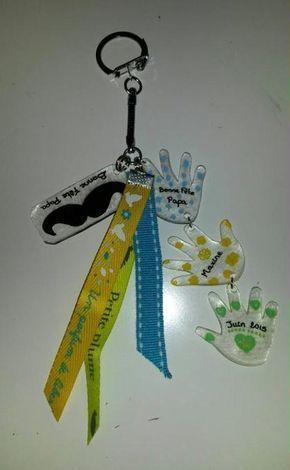 Porte clés Fête des Pères en plastique fou avec feutres posca – Création Créations des enfants de dorothee1273 n°55 609 (Vue 39 677 fois)