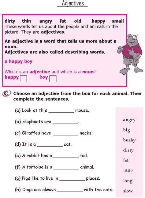 Grade-1-Grammar-Lesson-7-Adjectives 2 | Teaching English | English ...