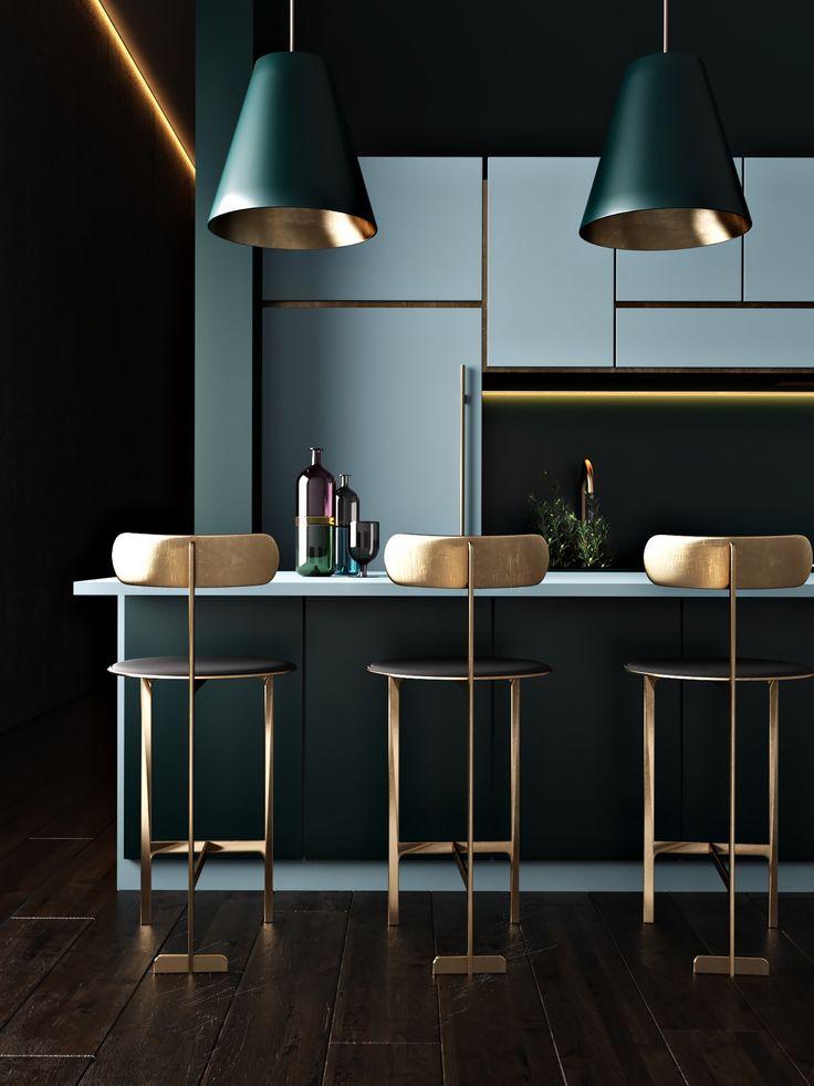 30 schöne blaue Küchen, um Ihren Tag zu erhellen