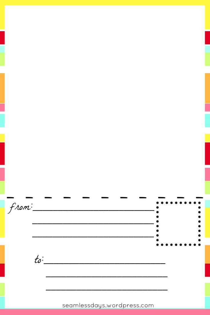 VERY CUTE!! postcards for little artists: free printable