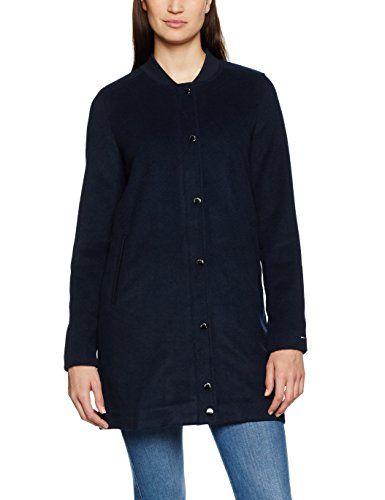 Femme navy Jeans 38 Longues Tommy taille Manteau Manches Coat 20 Blazer Bleu SH78q5