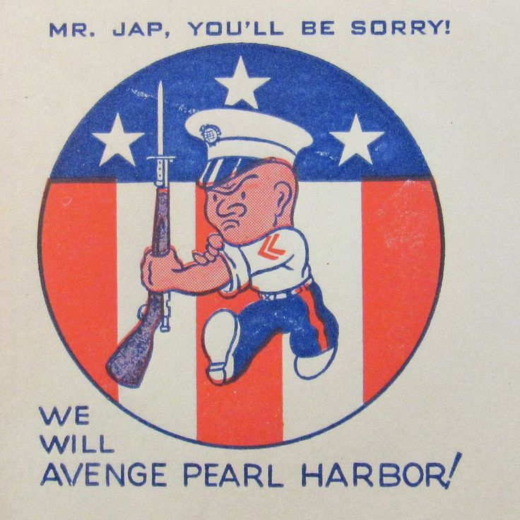 Patriotic WWII 'Mr. Jap, You'll be Sorry! We will Avenge Pear Harbor' Envelope.