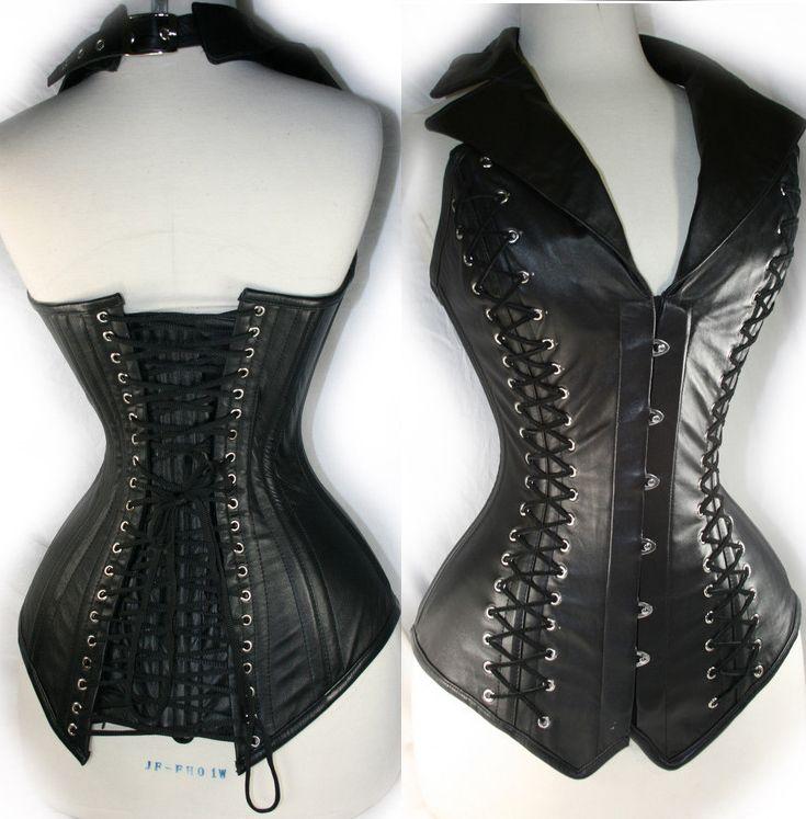 Vest Leather Corset Black N4392