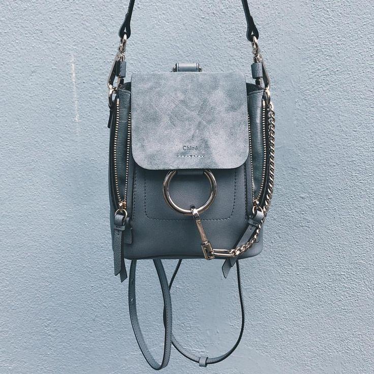 Chloé backpack light blue