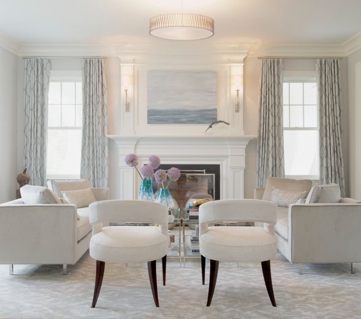 The Soft Colors In Abstract Landscape By Kerri Rosenthal Compliment Quiet Elegant Living Room Designed Susan Glick Interiors Photo C Jane