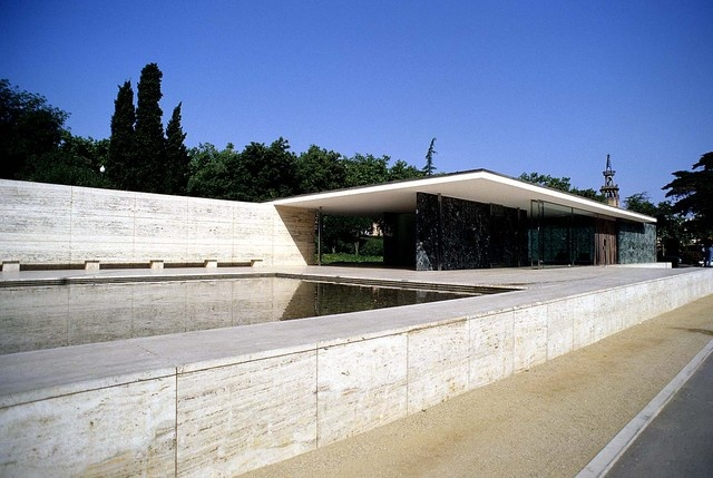 75 best mies van der rohe images on pinterest ludwig for Pavillon moderne construction